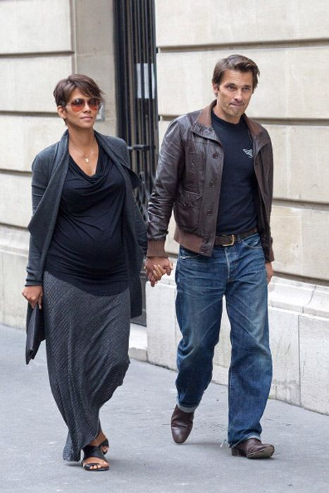 Pregnant Halle Berry spotted in Paris with fiancé Olivier Martinez
