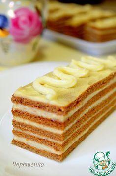 Шоколадно-медовые пирожные с ванильным заварным кремом
