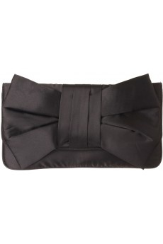 Satin Bow Clutch in BLACK #2384 - colette by colette hayman