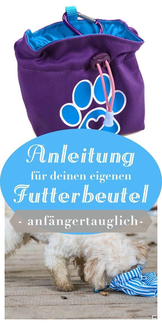 Kostenlose Anleitung für einen Futterbeutel! Leckerli immer griffbereit mit diesem DIY-Hingucker erklärt von Pfotenprunk - Hundesachen Selbermachen!