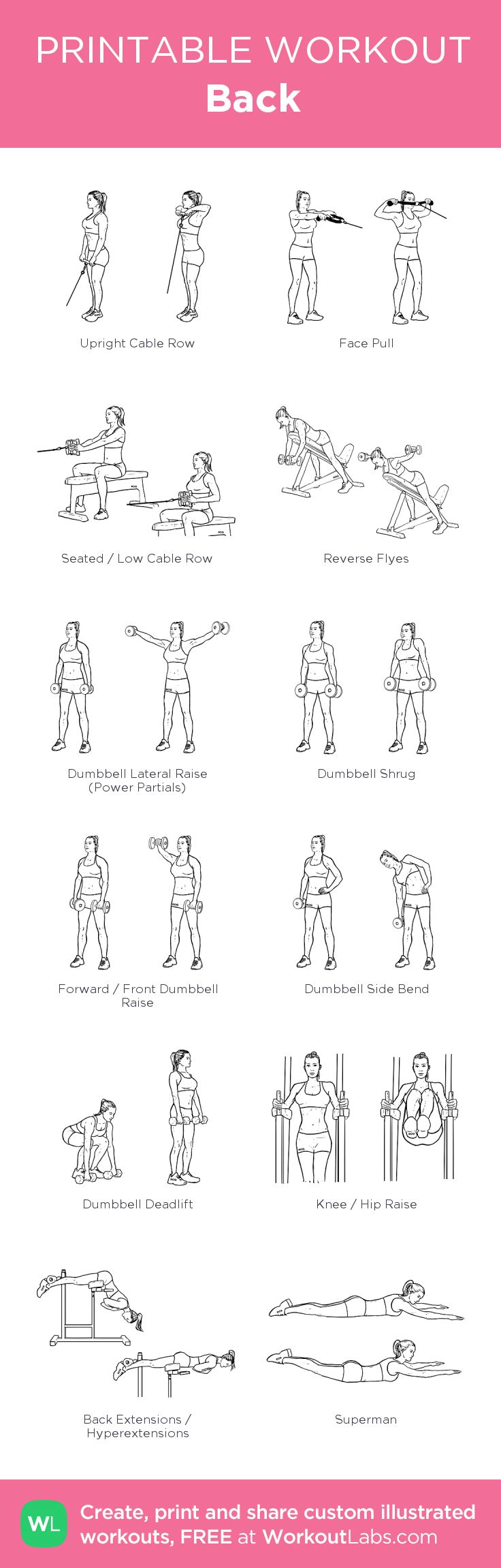 Back: my custom printable workout by @WorkoutLabs #workoutlabs #customworkout