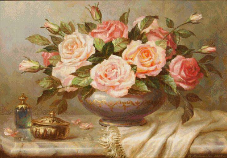 Предпросмотр схемы вышивки «krásne ruže»