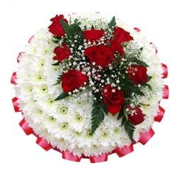 Funeral wreaths from posy pads