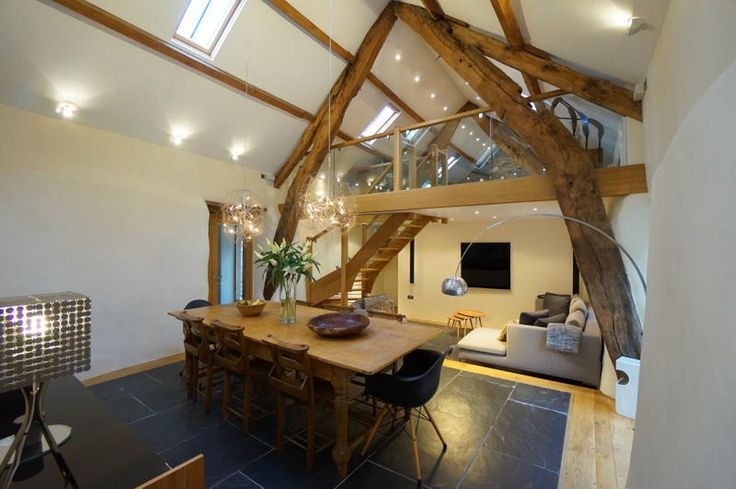 The dining room at The Barn in Capel Garmon, which is on the market for £465,000