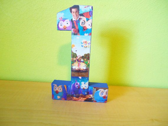 Giggle and Hoot Inspired Letter and Number Decor by TheRCB on Etsy, $10.00