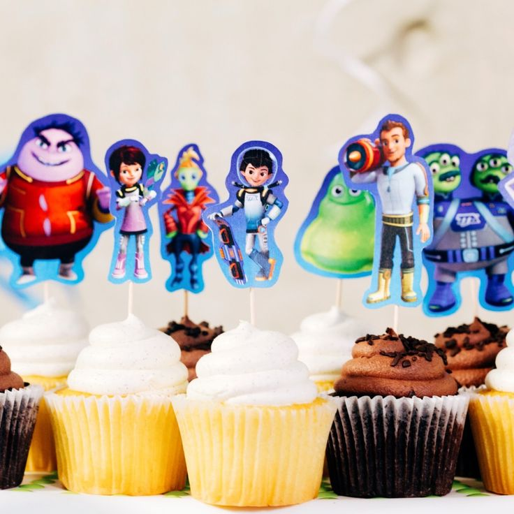 Miles from Tomorrowland Printable Cupcake Toppers | Disney Family