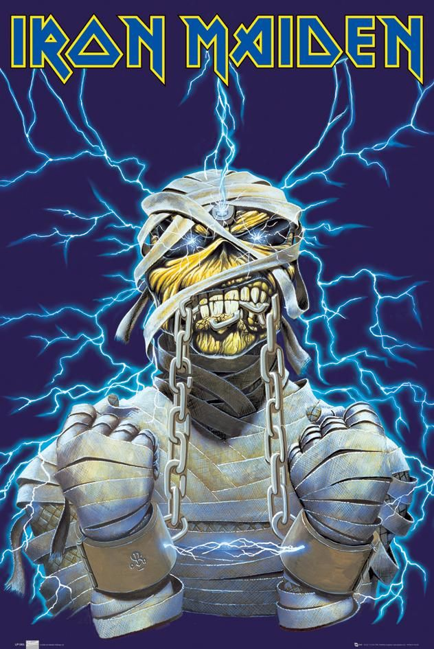 iron maiden tour posters | Iron Maiden posters – Iron Maiden World Slavery poster LP1263 ...