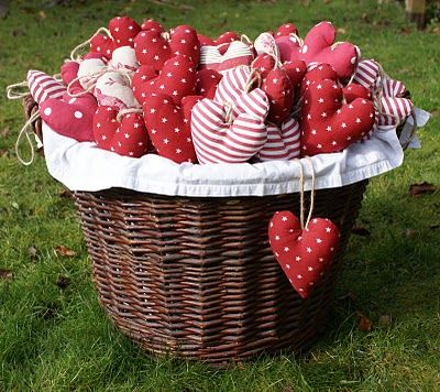 Valentines.  Fill with herbs, write love notes on back with fabric pens, etc.  Party favors, gifts for Handsome, kids, church (use scriptures) etc.  xoxo  The more the better, in a big basket, enough decoration.