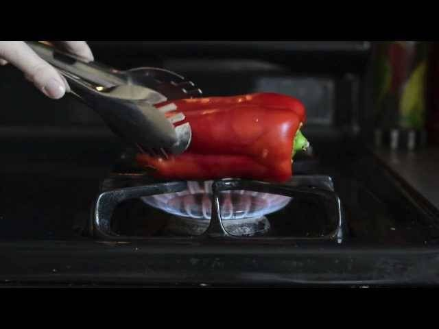 stovetop roasted pepper.