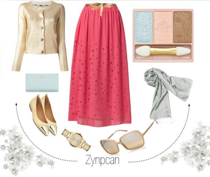 #kayra #scarf #fashion #skirt #style #hijab #burberry #blue #gold