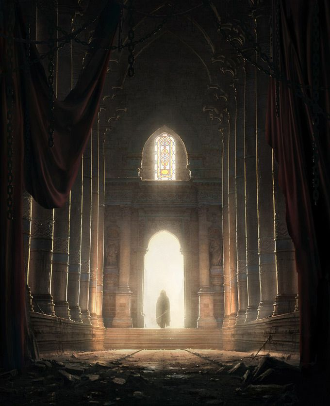 Desolation | Shattered hope | What does this place mean to the person standing in the doorway?  Is this a home that he left? Or is this the castle that his mother told him stories about?  Did he expect to find it in ruins? | What did he hope to find here? | Shon returning to the monastary