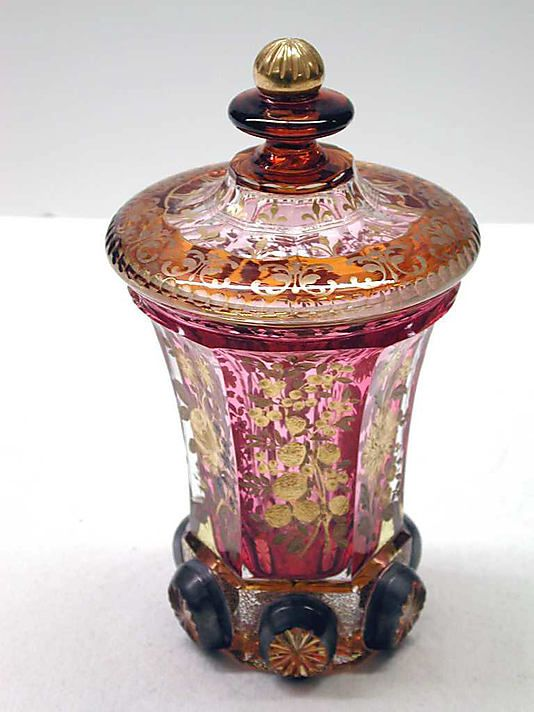 Bohemian Glass Goblet With Cover   c.1830-1840