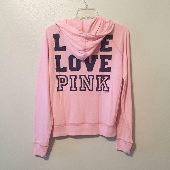 VS Pink Zip Up Hoodie VS Pink Zip Up Hoodie. Pricing reflects wear. PINK Victoria's Secret Sweaters