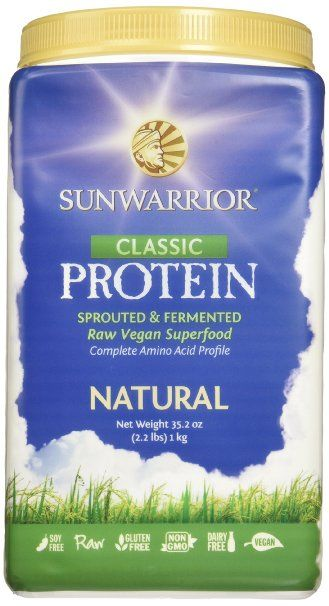 Sunwarrior Classic Wholegrain Brown Rice Protein, Natural 2.2 lbs (FFP)