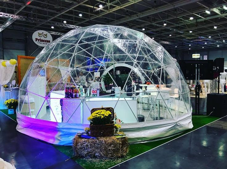 ShelterDome 6m diameter dome tent for the showroom on the fair!