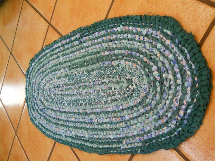 Alachain Rustic Oval Rag Rug