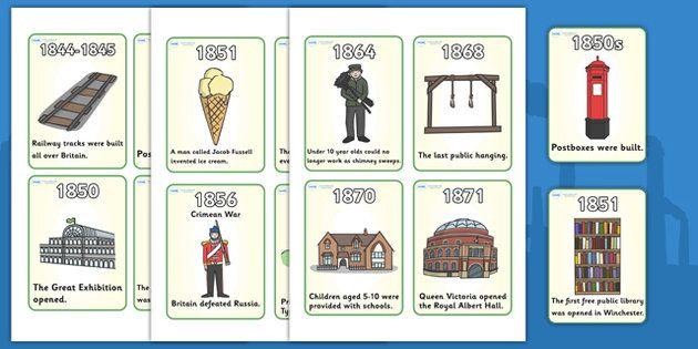 Victorian timeline Flash Cards - Victorians, Queen Victoria, 19th century…