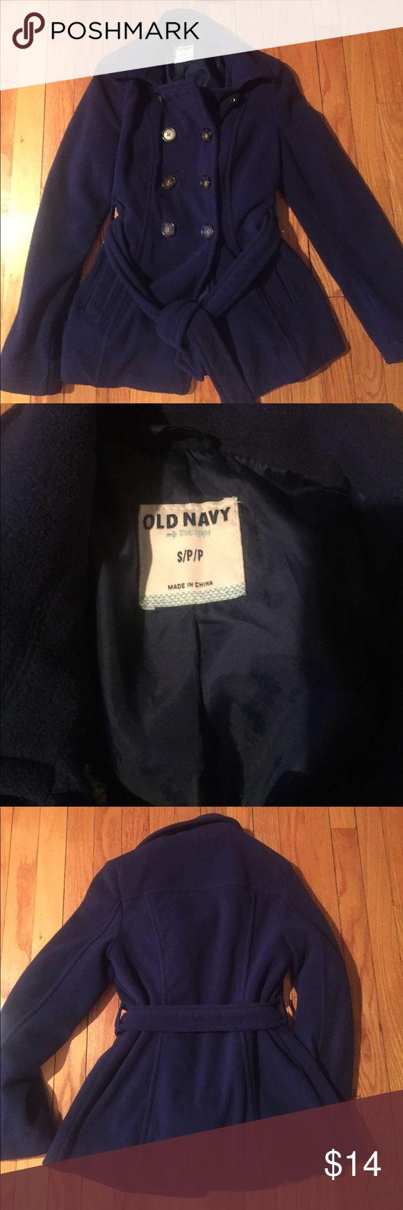 Old Navy fleece coat Cute dark Nablus coat from Old Navy.  Bottom closure. Polyester.  Machine wash cold gentle cycle. Old Navy Jackets & Coats Pea Coats