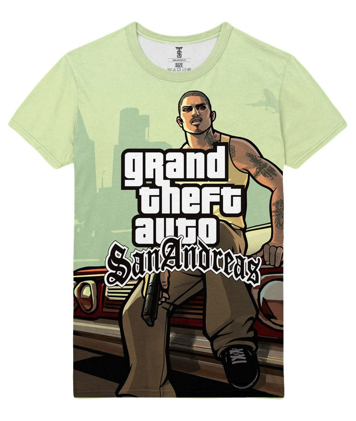 The unique T-shirt Gta San Andreas grand Theft Auto Character Carl CJ Johnson Loot Merch  -   #amazon #Apparels #australia #boy #buy #ebay #Female #girls #india #kids #loot #Male #merch #merchandise #purchase #shirts #t-shirts #ukMerch