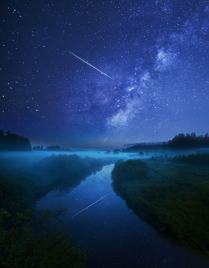 Night river by Mikko Lagerstedt, via 500px.