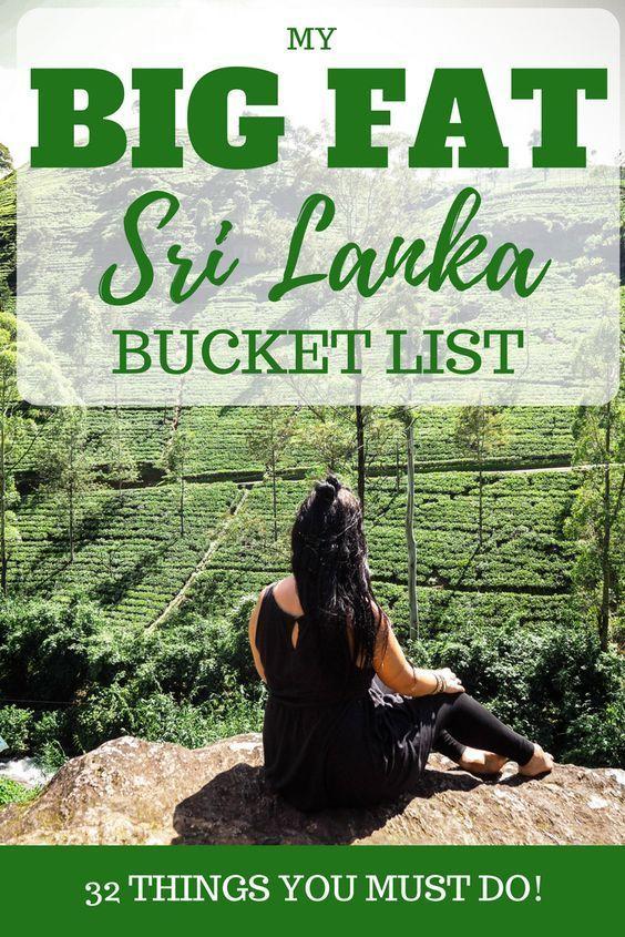 Sri Lanka bucket list