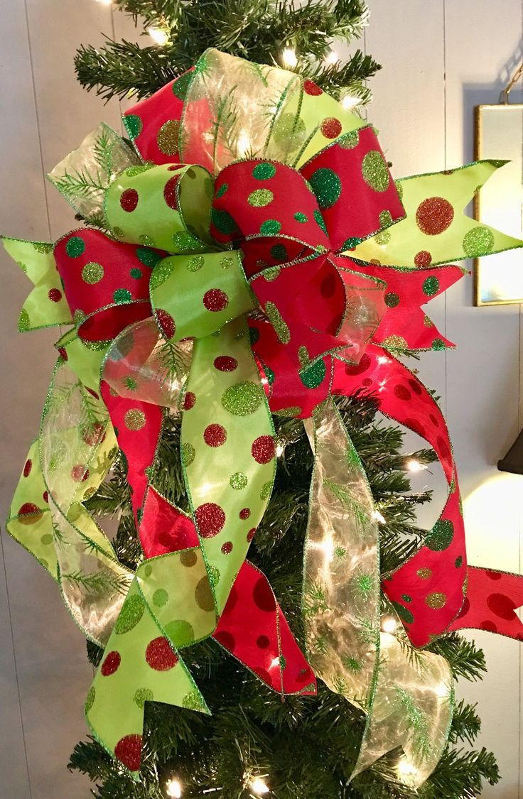 The Betty Lou Hoo Christmas Tree Topper Bow