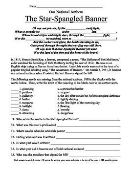 Printables Star Spangled Banner Worksheet pinterest the worlds catalog of ideas