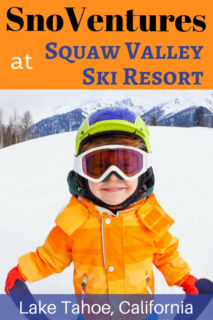 Are you planning a family vacation to Lake Tahoe to go skiing?  Then check out SnoVentures at Squaw Valley Ski Resort!  Gently sloped terrain serviced by an easy-to-ride beginner lift and two surface carpets means it's perfect for beginning skiers and snowboarders.  Plus, snow tubing, mini snowmobiles, a day lodge and a free shuttle from the Village circle means it's perfect for families looking for additional activities to round out their ski vacation.
