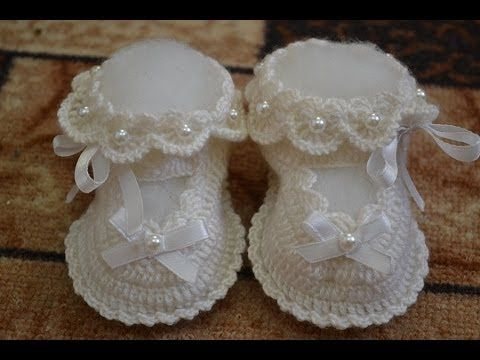 Пинетки. Вариант 2 (Booties crochet) - YouTube