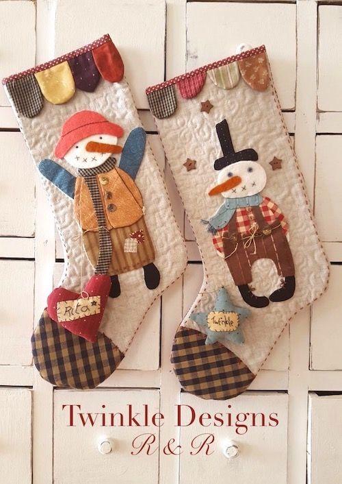 Patrón de Botas de Navidad | Christmas stocking pattern. Twinkle Designs R&R
