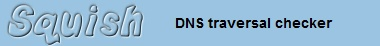 Comprehensive traversal DNS checking in an instant    Check your internet addresses with squish.net's traversing DNS checker. This will check every single branch of the DNS tree to ensure your addresses are delegating and resolving correctly. This is accomplished by traversing the DNS tree from the root examining all possible routes that a client could travel, calculating percentage probabilities on the way