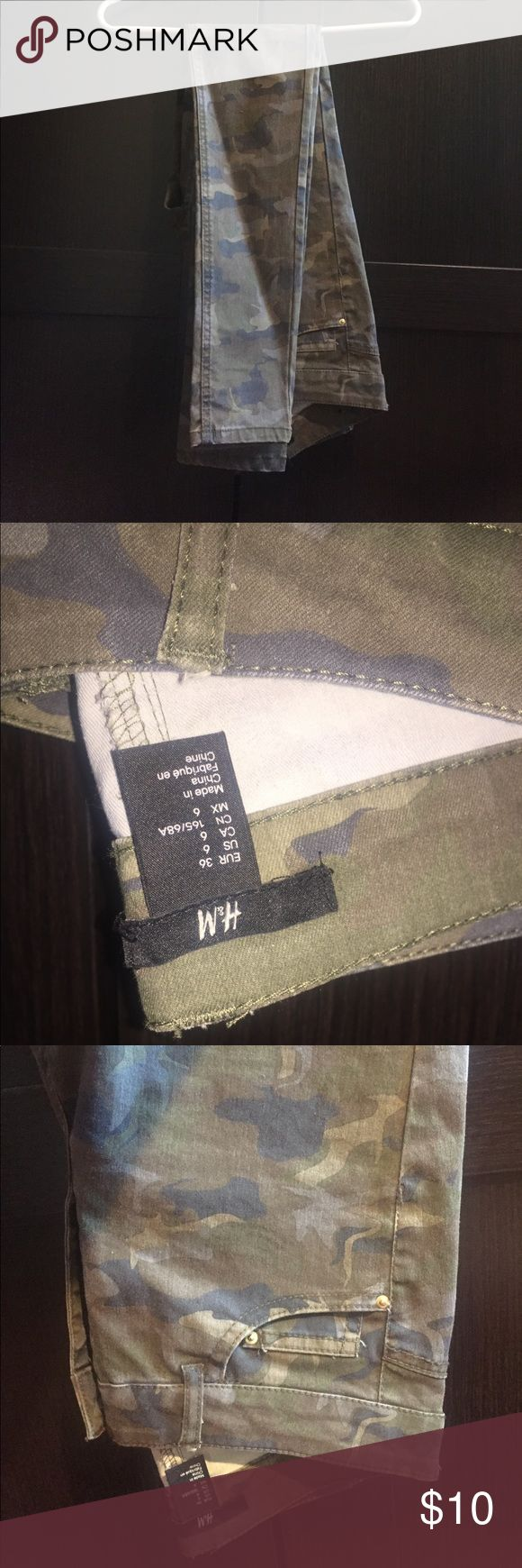 H&M Camouflage Skinny Jeans Never Worn H&M Jeans Skinny