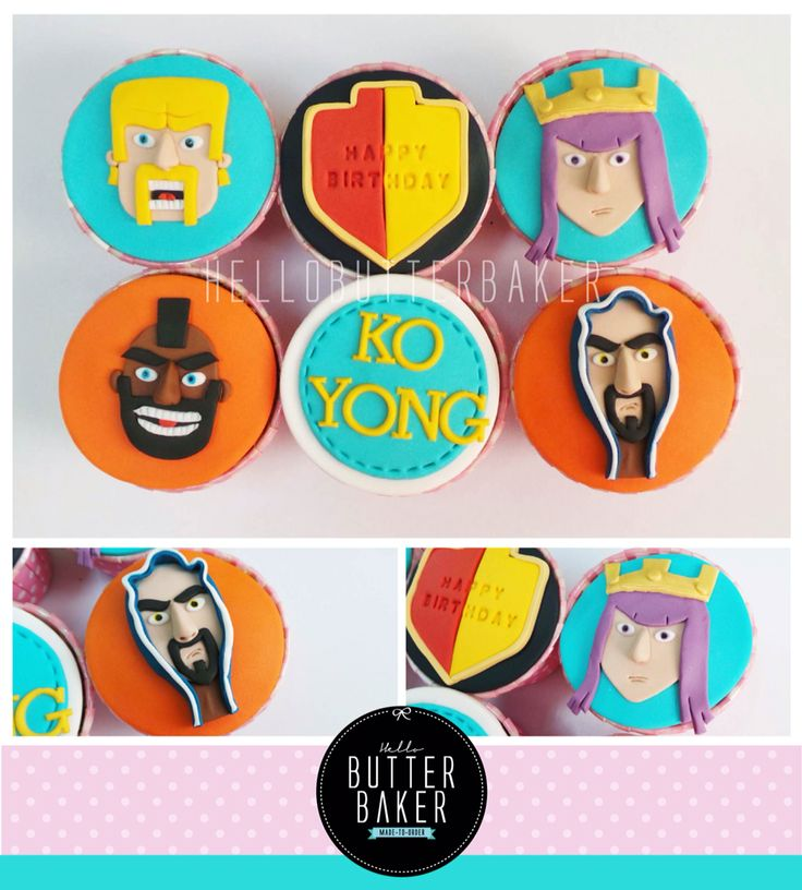 Clash of clans cupcake