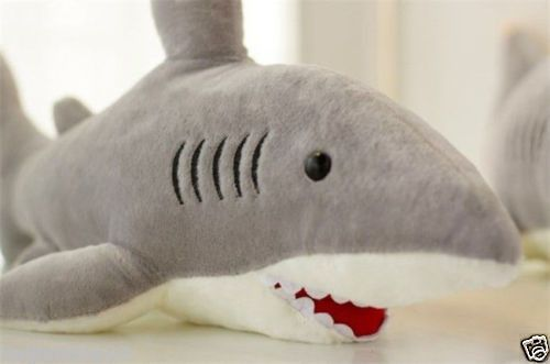 70cm 27.5 Inch Plush Toy Big great white shark Jaws Stuffed Animal Toy Doll
