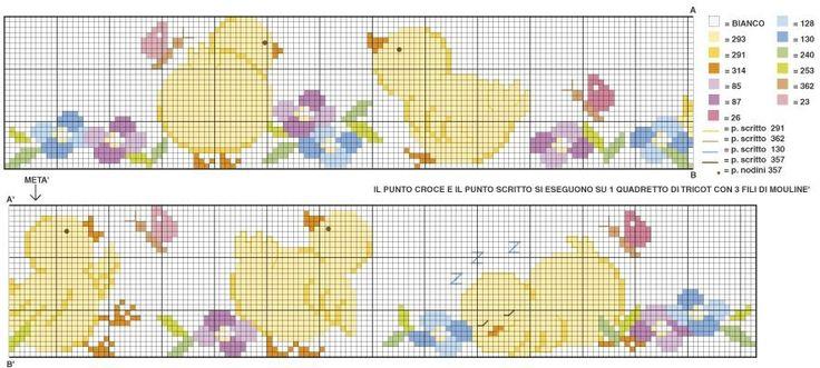 lenzuolini punto croce schemi gratis | schemi punto roce per sacchettini bomboniere