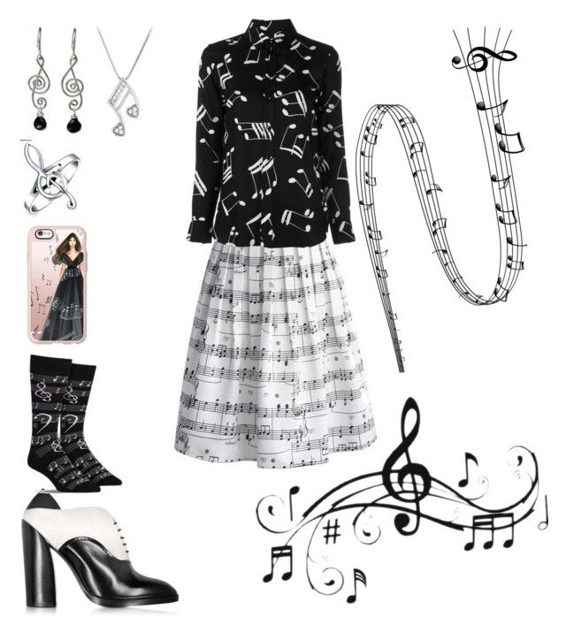 """All about music notes"" by ashlynweis on Polyvore featuring art"