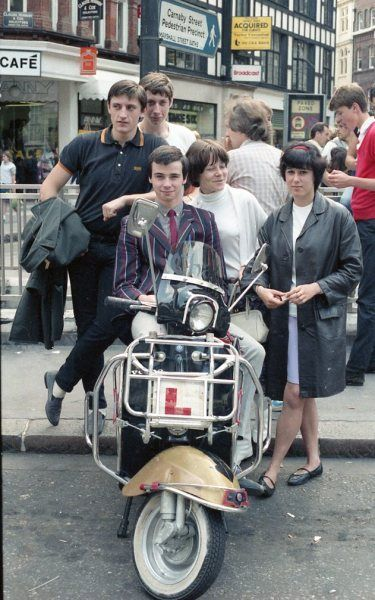 Think this is an 80's of mods at the end of Carnaby Street