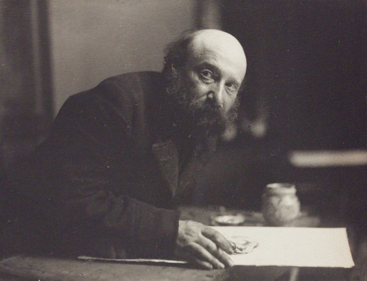 Simeon Solomon photographed by Frederick Hollyer, 1896.