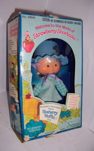 1980 STRAWBERRY SHORTCAKE DOLL BLUEBERRY MUFFIN FACTORY SEALED BOX-- wow!
