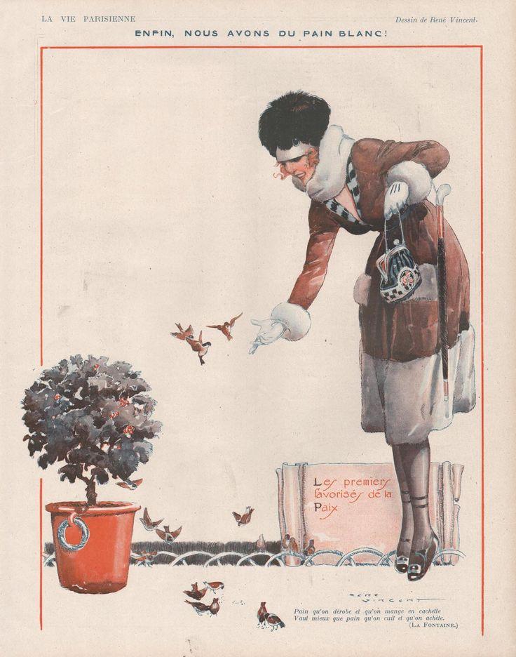 René Vincent (1879 – 1936). La Vie Parisienne, January 1919. [Pinned 20-i-2015]