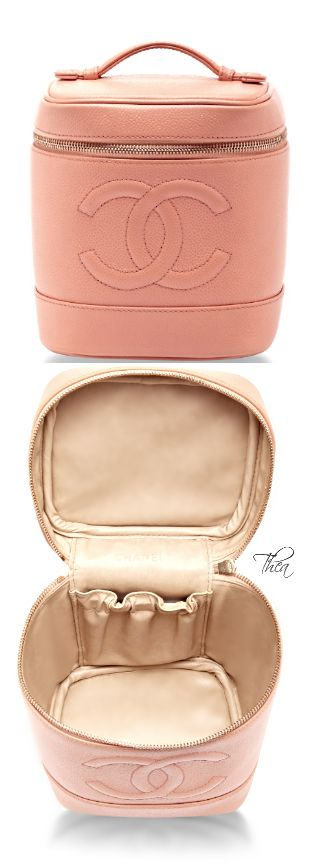 Chanel ● Vintage Peach Vanity Case