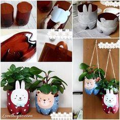 Easy DIY Planters diy crafts craft ideas easy crafts  diy idea diy home diy vase easy diy kids crafts kids diy for the home crafty decor home ideas diy decorations