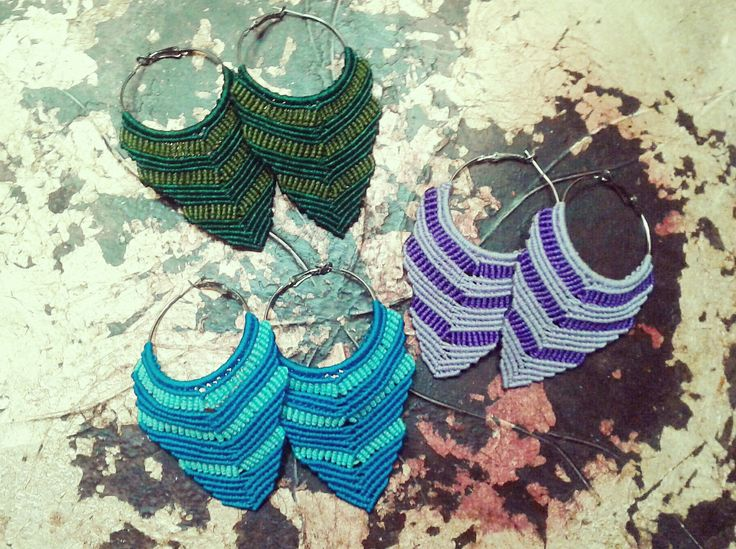 #macrame #micromacrame #handmadejewel #handmade #macrameearrings #earrings #hoopearrings #handmade #jewels #colors #accessories