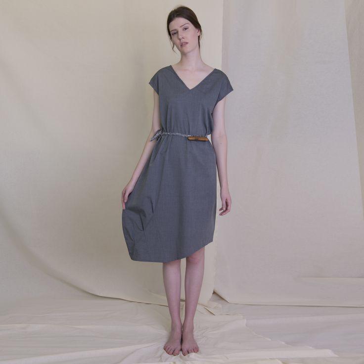 East Village Dress with asymmetric hem