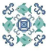 Under the Sea Cross Stitch Pattern by Theflossbox on Etsy