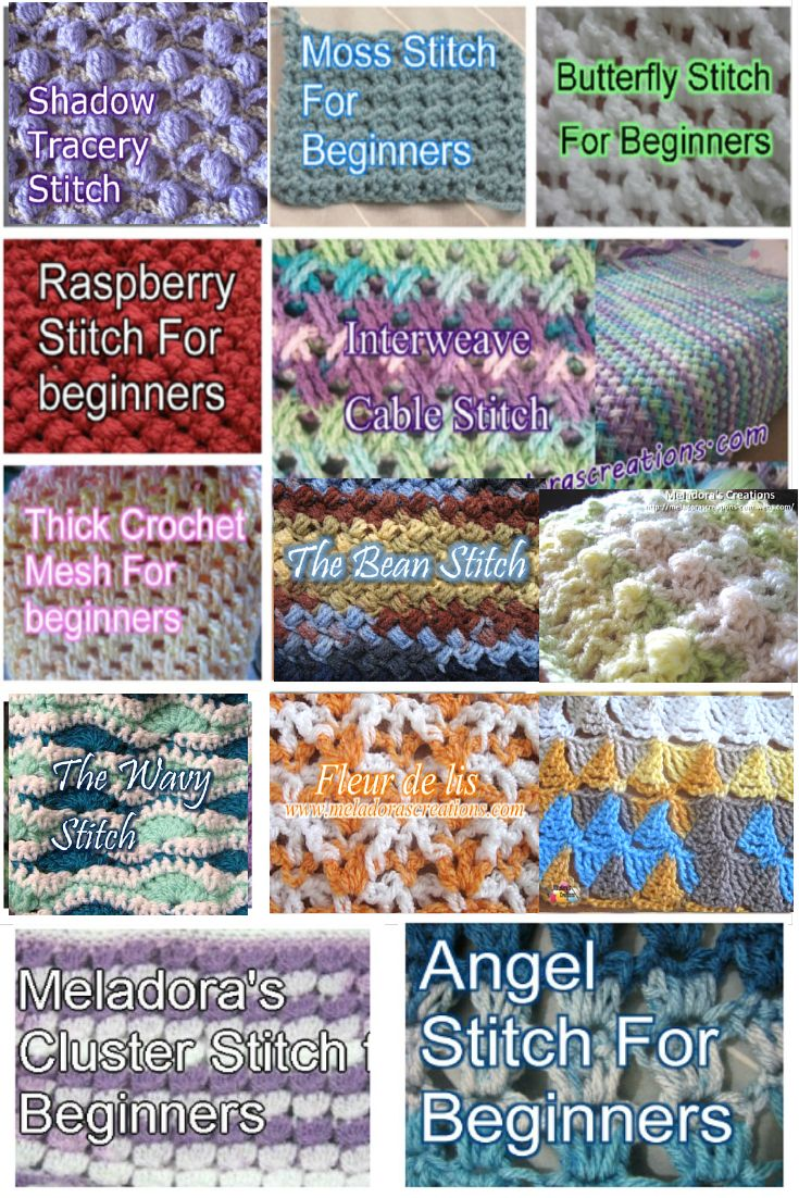 Looking for a new stitch for your next project? Take a look at some of these!: