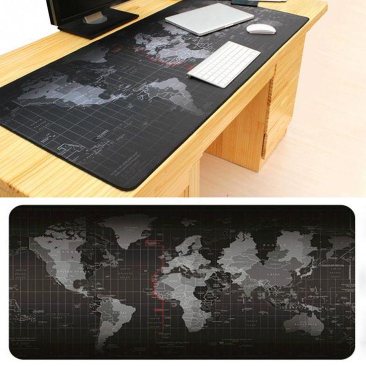 Zimoon Tienda Grande Gaming Mouse Pad El Mapa Del Mundo Alfombrilla para el Ratón Del Teclado Vade Pad Para Dota CS Ir