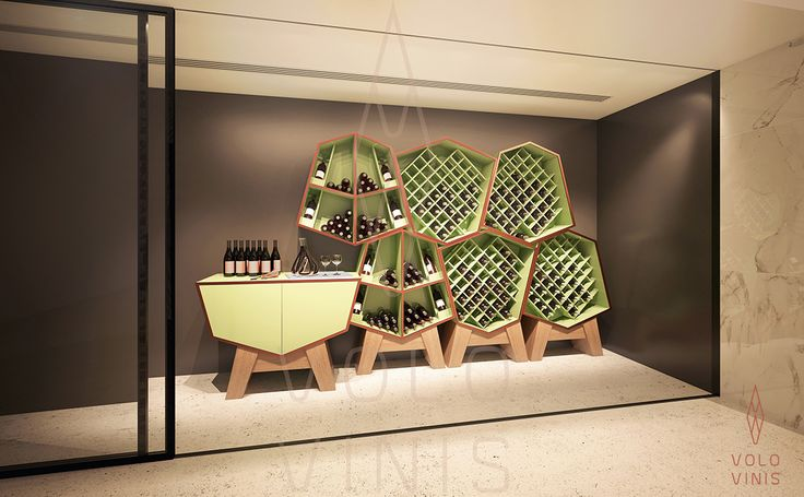 Hator rack system, Wine Cellar (standart color) by VOLO VINIS. Contemporary Luxuryous Wine Design, high quality wine furniture available on www.volovinis.com