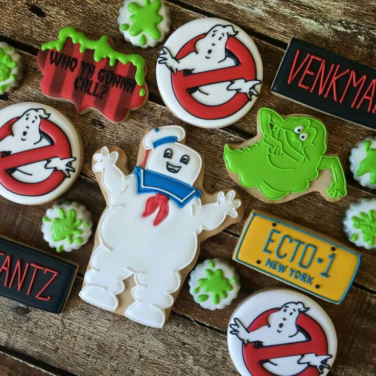 Bee Sweet Confections Ghostbusters Decorated Cookies
