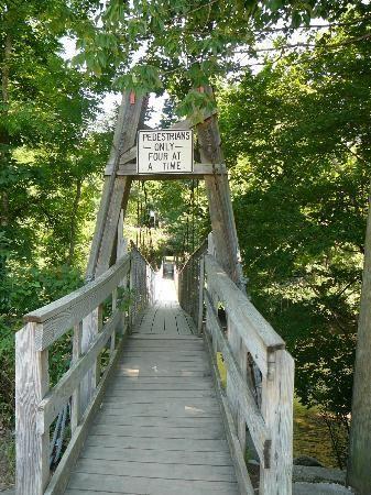 Dark Island Swinging Bridge, Old State Highway 73 & Depot Ave., Townsend, TN, Smoky Mountains